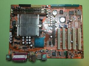 ABIT KV8 Pro Socket 754 Motherboard; 2GB Mem; AMD Athion 64 CPU; AGP Video Card