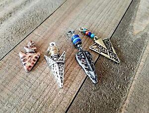 Arrowhead Charms Set Assorted Lot Western Pendants Copper Bronze Silver