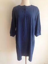 """DVF Diane von Furstenberg """"Julieta"""" Tunic Dress Blue 100% Silk Size 2"""