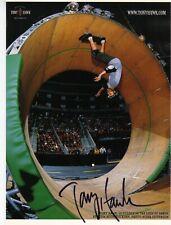 More details for skateboarding legend tony hawk signed 8x11 photo