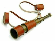 Brass Marine Telescope Antique Vintage Brass Telescope with Leather case Gift
