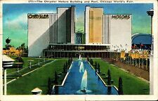 Chicago's World Fair 1933  Chrysler Motors Building  Postcard Postmarked 1933