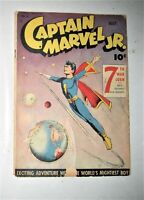 CAPTAIN MARVEL Jr #31 Golden Age fawcett comic  space cover 7th war loan