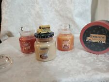 Yankee Candle Set Of 3 Small Jars w/School Bus Topper - NEW