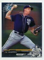 2017 Bowman Chrome CAL QUANTRILL Rookie Card RC #BCP55 San Diego Padres Prospect