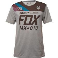Magliette da uomo grigie Fox in poliestere