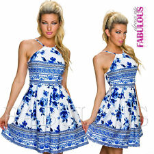 Sexy European Floral Flower Print Summer A-Line Dress Trendy Size 6 8 10 XS S M