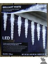 NEW GEMMY LED LIGHTSHOW 24 Icicle SYNCHRONIZED  Lights Show Christmas White