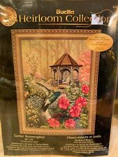 Bucilla Heirloom collection Garden Hummingbird Kit cross stitch 10x14 #45480 NEW