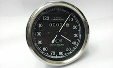 Smith Black Speedometer 120 MPH Royal Enfield/BSA/Norton & 45 Inch Speedo Cable
