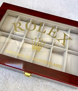 ROLEX WATCH BOX ( Collectors Case ) Display Box ,