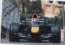 David Coulthard mano firmato RED BULL 12x8 FOTO F1.