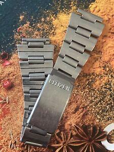 Vintage CITIZEN Stainless Steel Watch Bracelet - RARE. c1970s / Bullhead? Divers