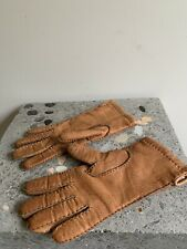 Tan Leather Knitted Lined Gloves