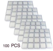 100 PCS OF CLEAR PLASTIC JAR BOX SIZE 3x3x2CM GEMSTONE DISPLAY SHOW CASE