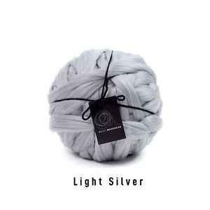 4kg Light Silver Mammoth® Thick Super Chunky Extreme Arm Knitting Acrylic Giant