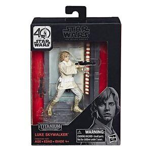 Star Wars Luke Skywalker The Black Series Titanium Collectable Toy Figure