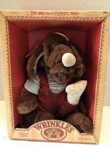 Vintage 1981 Wrinkles Pet/Puppet By Ganz Bros. W/Box!  Model No. 6002