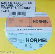 Tichy Train Group #10219 Decal for: Hormel NADX 40' Steel Reefer (orange Car, Me