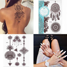 Red Henna Temporary Tattoo Transfer Inspired Tattoo Sticker Fashion Body Art NEW