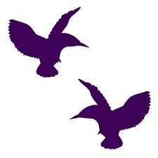 Hummingbird Decal 2 Pack Flying Silhouette Bird Stickers