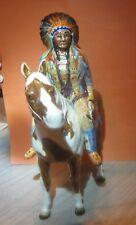 BESWICK Mounted Indian, Model 1391, USA Seller, Produced 1955 - 1990, Skewbald