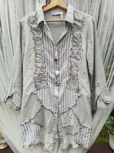 Elisa Cavaletti Women's Long Sleeve Blouse Size M