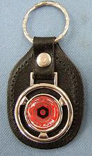 Vintage Red PACKARD Steering Wheel Leather Key Ring 1940 1941 1942 1943 1944