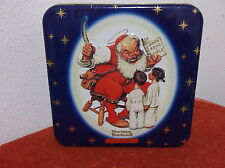"""VINTAGE """"SNICKERS CANDY""""  TIN...NORMAN ROCKWELL DESIGN ON LID...1999"""