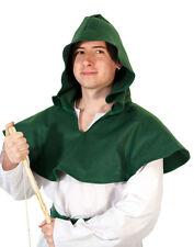 Medieval-LARP-Cosplay-Robin Hood-Archer-Large Green 100% Felt Hero Hood