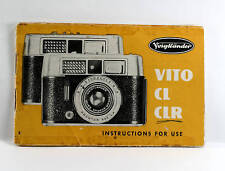 Voigtlaender Vito CL and CLR Instruction Book, 24 pages