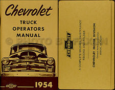 1954 Chevy Truck Owners Manual with Envelope 54 Chevrolet Pickup Suburban Panel