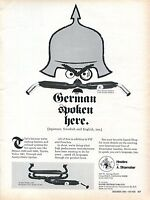1969 Print Ad Shoemaker Headers Single Duo-Strobe Muffler VW German Spoken Here
