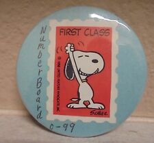RARE Snoopy Peanuts Button Metal Copyright 1958 Stamp 2 1/4 Inches