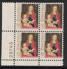 Scott 1321- MNH Plate Block- Christmas, Madonna & Child- 5c 1966- unused mint PB