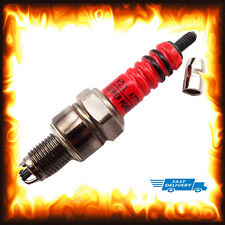A7TC Red 3 Electrode Spark Plug Pit Dirt Bike ATV Quad Buggy Go Kart Moped Moto