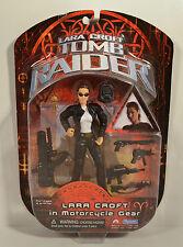 "2001 Motorcycle Gear Lara Croft 6"" Playmates Movie Action Figure Tomb Raider"