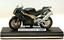 Welly 1:18 APRILIA RSV 1000 R FACTORY Motorcycle Bike Model Toy New In Box