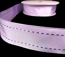 "5 Yds Lavender Pastel Purple Stitch Wired Ribbon 1 1/2""W"