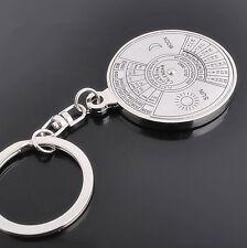Useful Super Perpetual Unique Metal Key Chain Ring Perpetual Calendar Keyring