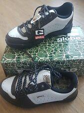 Men's Globe Gilmore Golf Zapatillas De Piel De Serpiente Color Blanco Talla UK 7/EU 41-BNWB