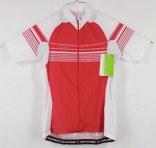 CANNONDALE L.E. Women's Full Zipper Large Red Cycling Jersey - NWT