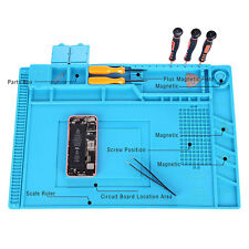 45 x 30CM New Magnetic Heat Silicone Pad Desk Mat Soldering Repair For BGA  Blue