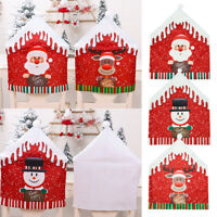 Christmas Decoration Chair Covers Dining Seat Cover Santa Claus Home Party Decor
