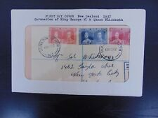 "*RARE* FDC ""Coronation Of King George VI And  Queen Elizabeth"" Cancelled 1937"