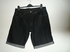 """Bnwot new Ladies dark blue denim shorts waist size 36"""""""