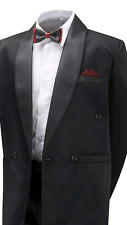 Boys-Black-Tuxedo-Suit-4-Piece-Prom-Cruise-Party-James B 6mnth- 15 years