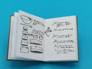 1:12 Scale Book, Alchemists lab  book,  crafted by Ken Blythe