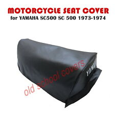 YAMAHA SC500 SC 500 1973-1974 MOTORCYCLE SEAT COVER WITH LOGO