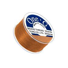 Toho One-G 0.2mm Nylon Japanese Beading Thread Orange 50yd Spool (Q108/4)